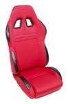 TA-Technix sport seat - red, adjustable