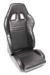 TA-Technix sport seat - black, pvc-leather, adjustable