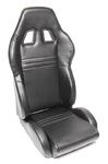 TA-Technix sport seat - black, pvc-leather, adjustable