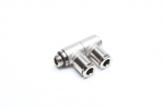 "TA-Technix double angle plug fitting 2 x 6mm with 1/8"" AG"