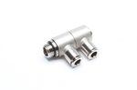 "TA-Technix double angle plug fitting 2 x 6mm with 1/4"" AG"